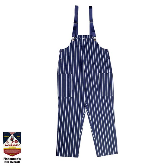 Cookman™️ Fisherman's Bib Overall #Stripe Navy