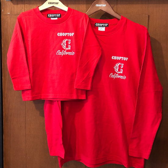 CALICHOP L/S tee #Red