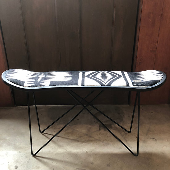 "PENDLETON×MB7r SKATE DECK STOOL BLACK  ""WALKING ROCK WHITE"""