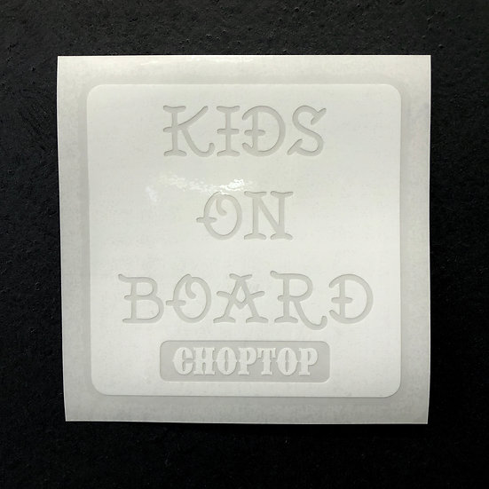 KIDS ON BOARD Cutting Sticker #White