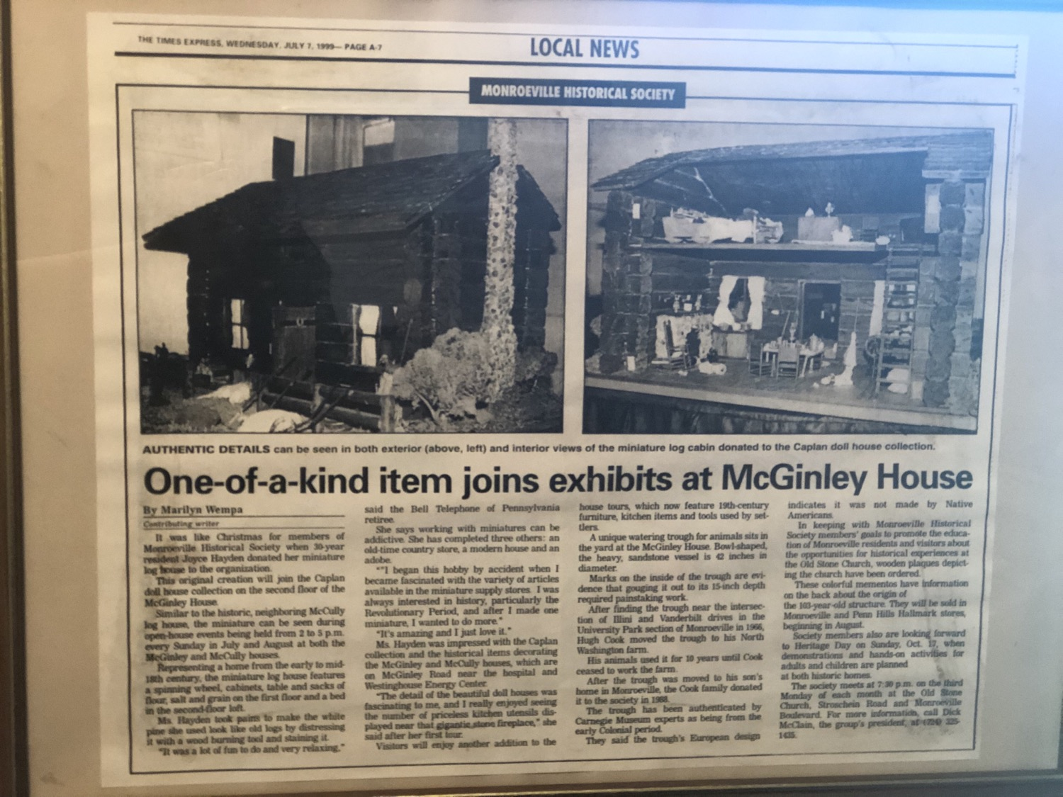 McGinley House News Article
