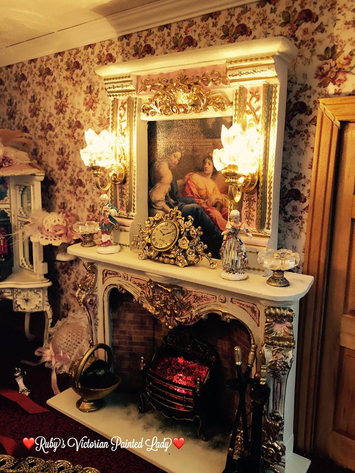 Rose Master Bedroom Fireplace