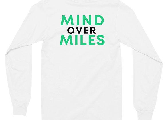 Double Sided Mind Over Miles Backside Unisex Long sleeve t-shirt