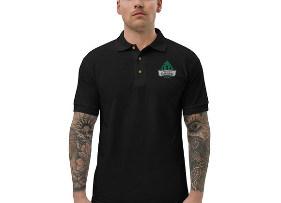 Embroidered Last Man Standing Chest Logo Polo Shirt