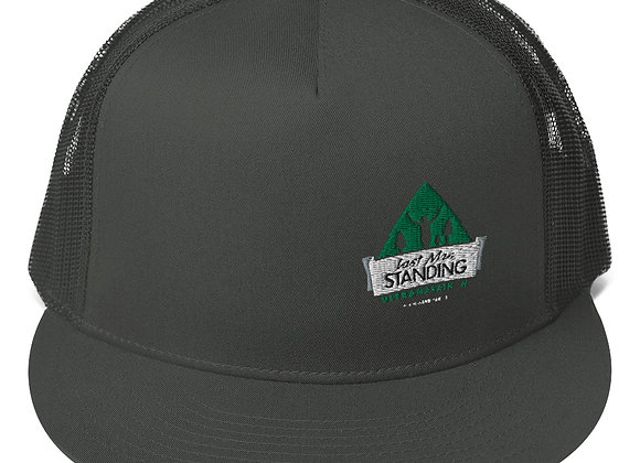 Embroidered Logo Mesh Back Last Man Standing Snapback