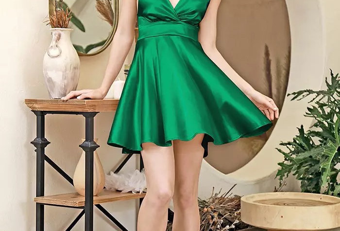 Paris Dress - Emerald
