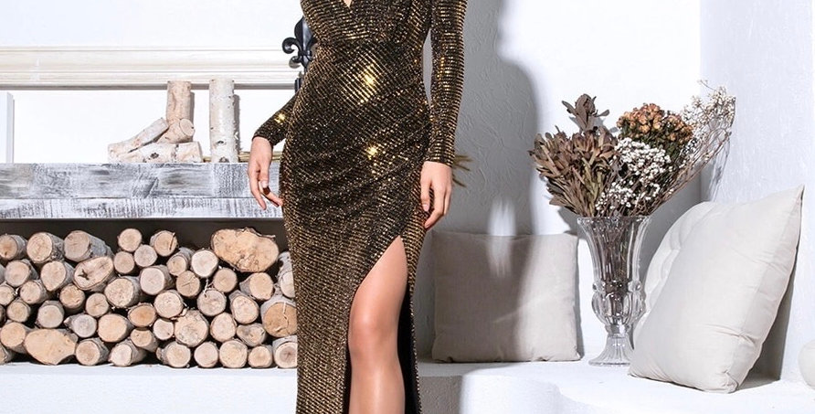 Cierra Dress - Gold