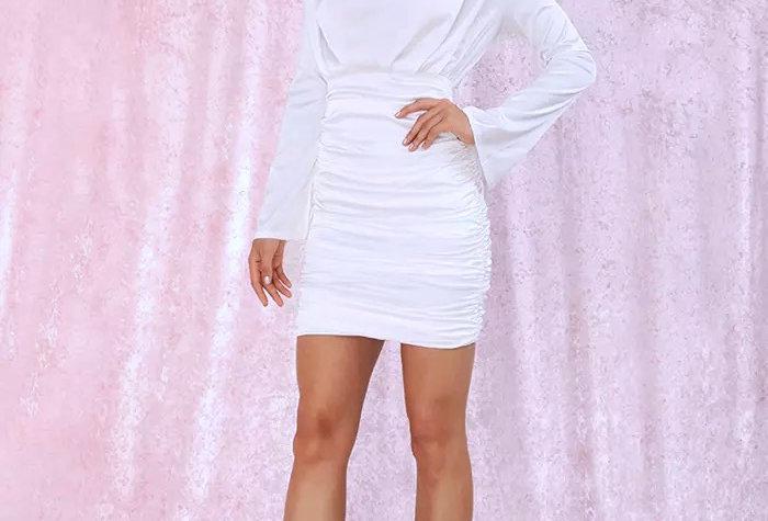 Melania Dress White