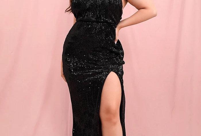 Daniela Curve Gown - Black