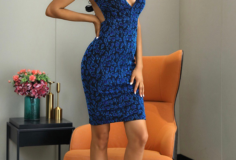 Sheila Midi Dress - Blue
