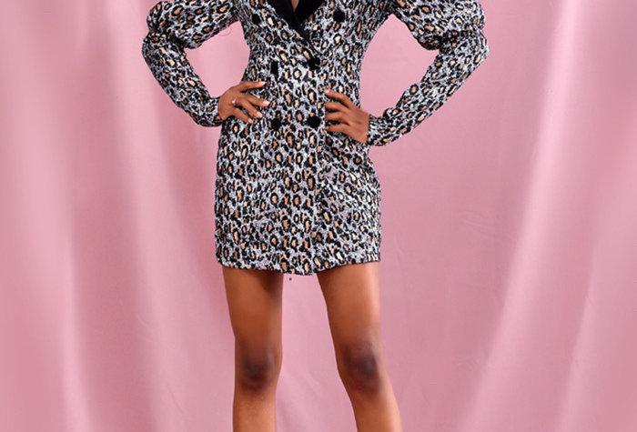 Tati Sequin Suit Dress