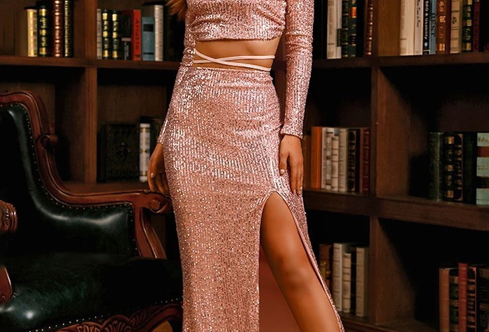 Carlo Sequin Set - Rose Gold
