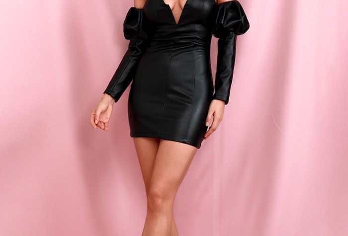 Hesna Dress - Vegan Leather