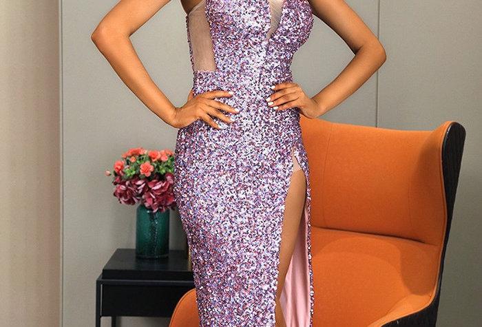 Jade Sequin Gown