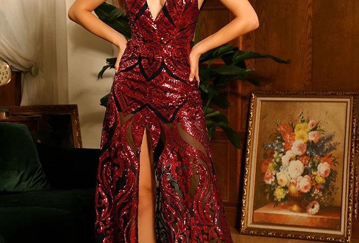 Kya Sequin Gown