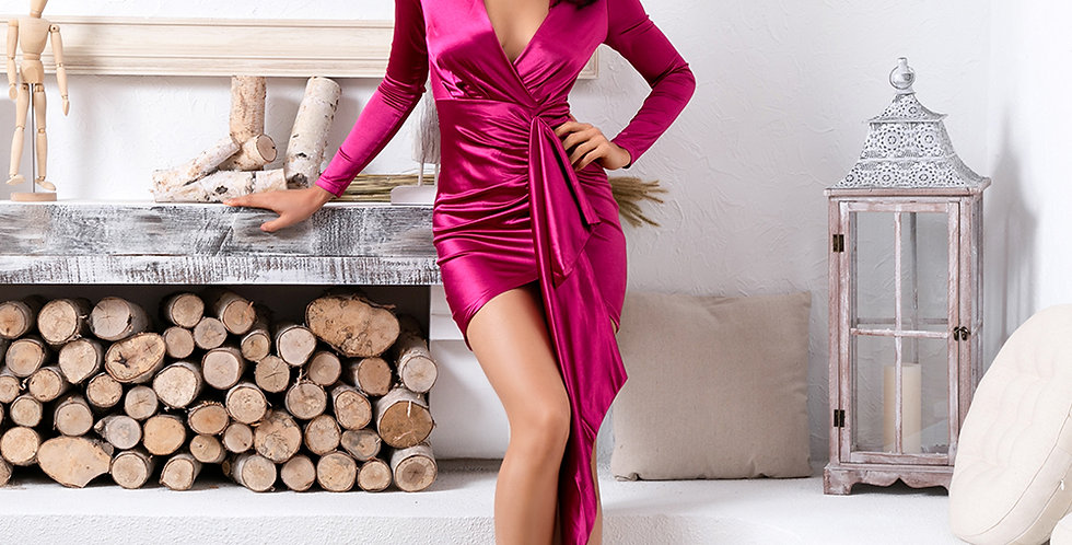 Diva Dress - Fuschia