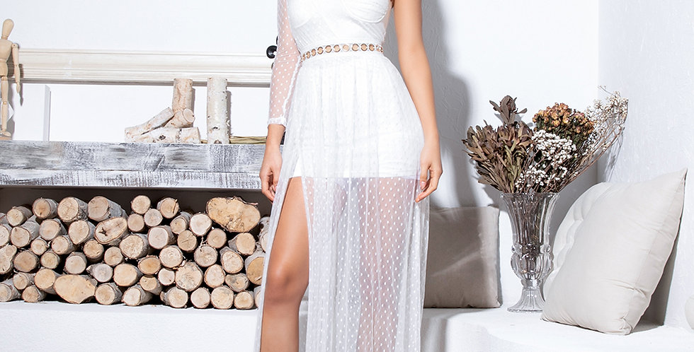 Rebecca Dress - White Long