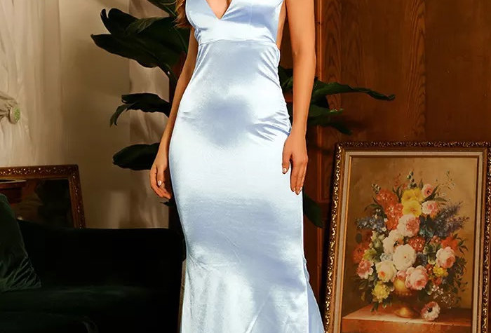 Brenda Gown - Powder Blue