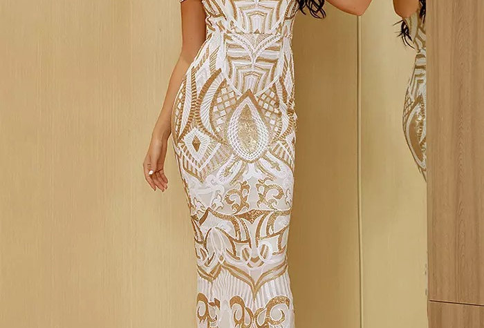 Art Deco Midi Dress