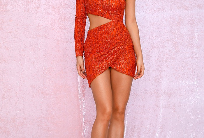 Luna Mini Dress - Orange
