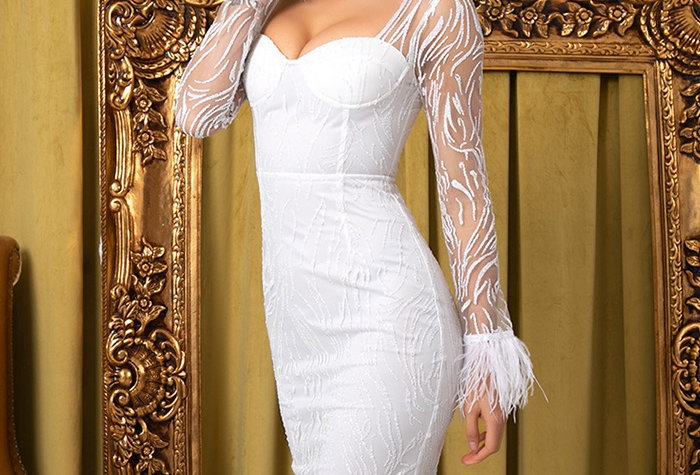 Tania Dress - White