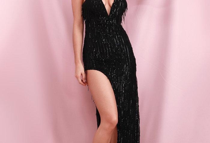 Chloe Tassle Gown