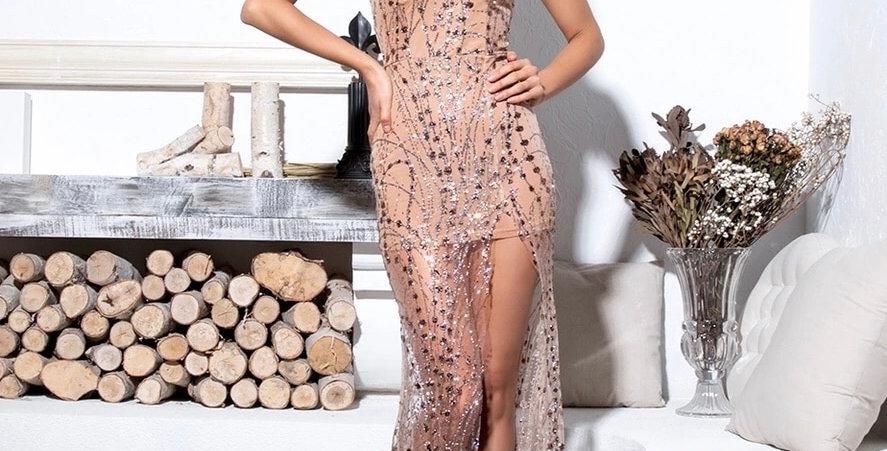 CiCi Dress - Rose Gold
