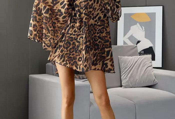 Trapeze Dress - Leopard