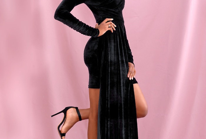 Nala Mix Dress Black