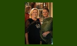 Catharine Hamilton with Claire Dwoskin i