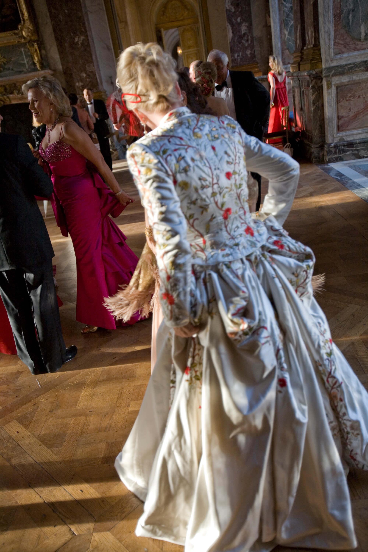 Silk embroidery at Le Grand Bal de Versa