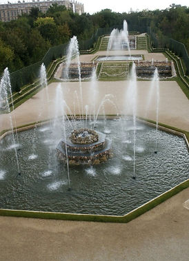 Water sprays of the Trois Fontaines Bosq