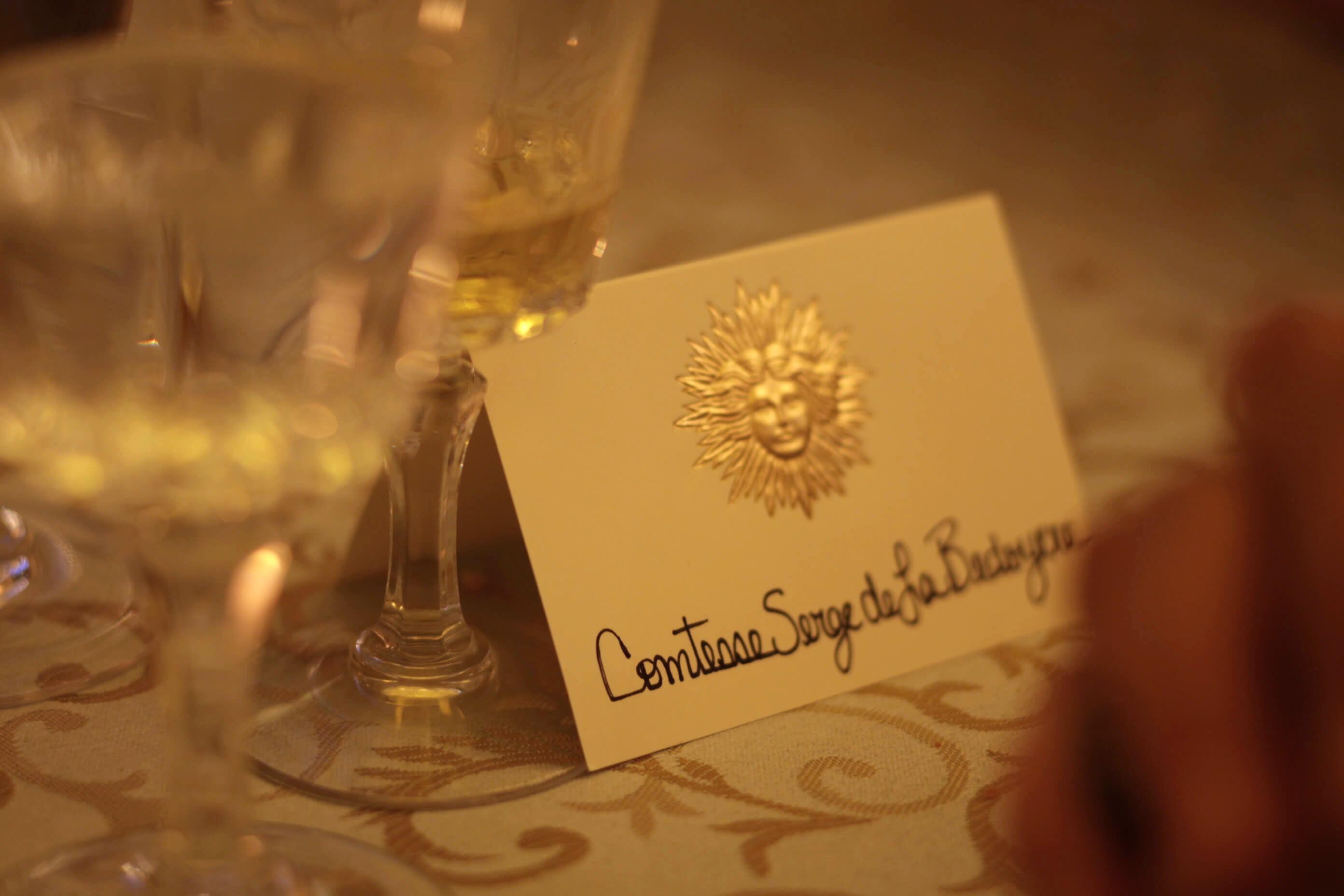 Bal de Versailles table card