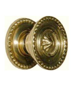 Sheraton Stamped Brass Drawer Knob 1-1/4""