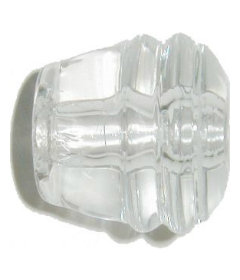 Deco Clear Glass Drawer Knob 1-1/8""