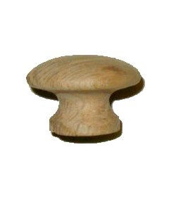 Side Grain Oak Knob 1-1/4""