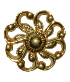 """Victorian Cast Brass Drawer Knob 1-3/16"""""""