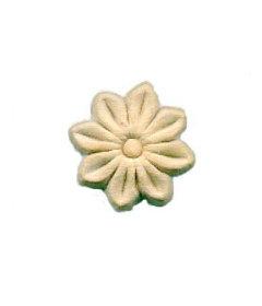 """Flower Medallion Birch Wood Applique - 1-1/2"""""""