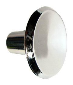 "Mid-Century Bright Nickel Knob 1"""