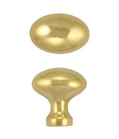 "Brass Oval Hoosier Knob 1"""
