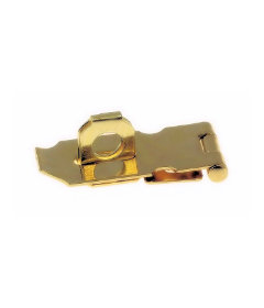 "Polished Brass Finished Steel Hasp Set - 1 1/2"" x 3/4"""