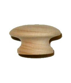 Side Grain Beech Drawer Knob 1-1/2""