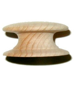 Side Grain Beech Drawer Knob  2""
