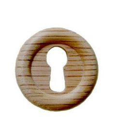 Small Round Oak Keyhole Cover