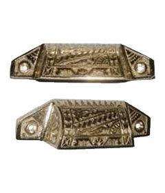 Cast Brass Type Tray & Bin Pull