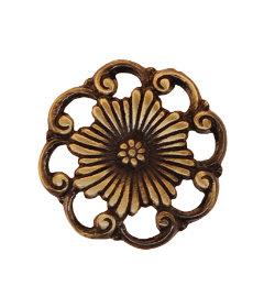 "Antique Cast Brass Furniture Knob 1-1/4"""