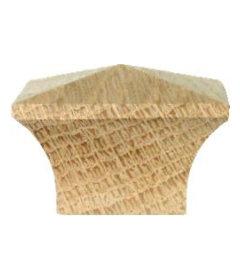 "Side Grain Mission Square Oak Knob 1-1/2"""