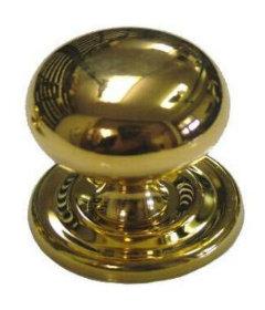 """Large Bulbous Cast Brass Knob 1 1/4"""""""