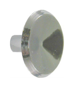 """Mid-Century Modern Concave Chrome Plated Drawer Knob  1-1/16"""""""