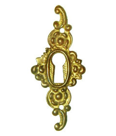 Cast Brass Victorian Style Keyhole Cover